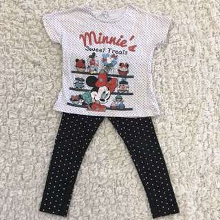 Minnie Mouse Shirt and Polka Dots Legging