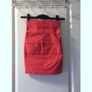 UB Pink Stretch Pencil Skirt (S)