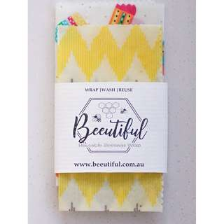 2 Pack Beeswax Wraps | Beeginner Pack
