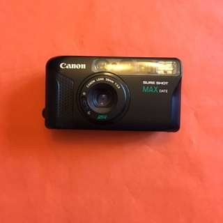 Canon SURESHOT MAX DATE F3.5 film camera 35mm point and shoot