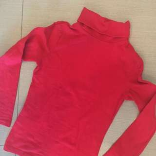 Girls Long Sleeved Turtleneck -6yo