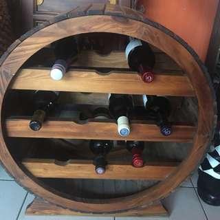 復古懷舊紅酒櫃