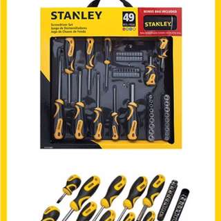 Stanley Screwdriver Set 49 Piece with bag included