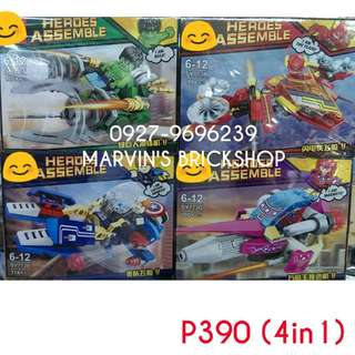 For Sale Super Hero 4in1 Building Blocks Toy