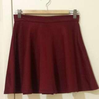 Cute Red Velvet Skirt
