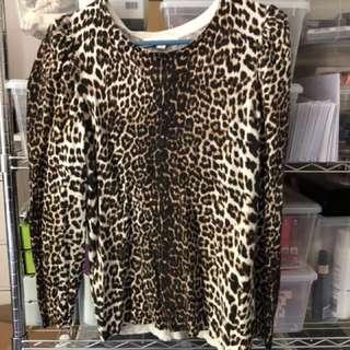 Forever New Leopard Print Jumper - Size 14