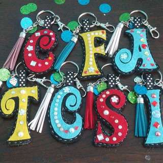 Personalized keychains/nametags/bagtags
