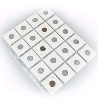 Coin Holder Cardboard Refillable Sheet