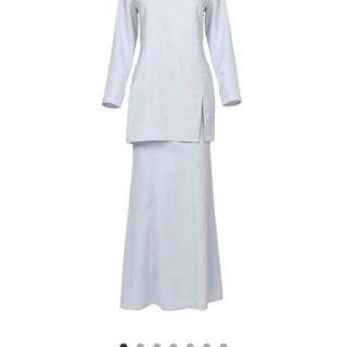 Poplook Premium Oma Blouse & Skirt Set (Light Blue)