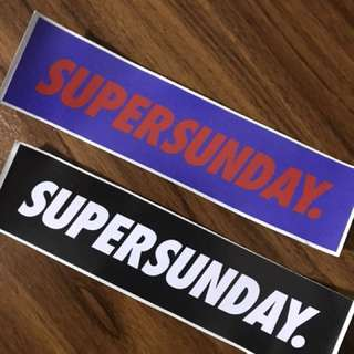 Super Sunday sticker