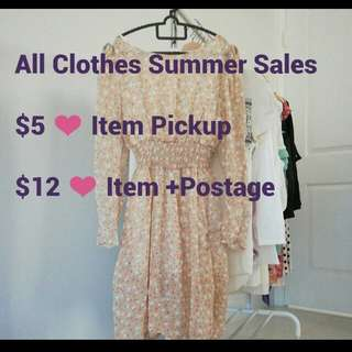 Summer Sales $5 pickup $12 postage