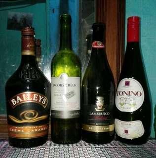 Bekas botol minuman buat pajangan borongan