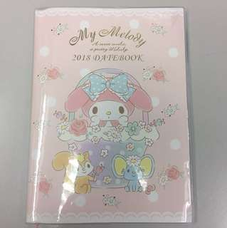 My melody 2018 Datebook 日記簿 Sanrio