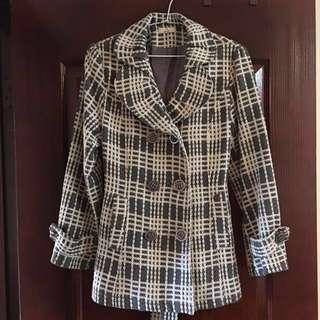 🚚 編織格紋外套 大衣