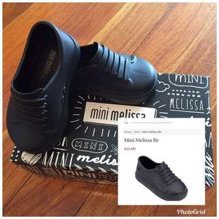 Brand new Mini Melissa Mini Be baby boys shoes black classy