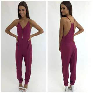 Peppermayo Maroon jumpsuit