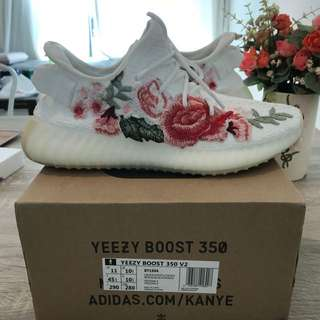 UA Adidas Yeezy Boost 350 Cream White Customized