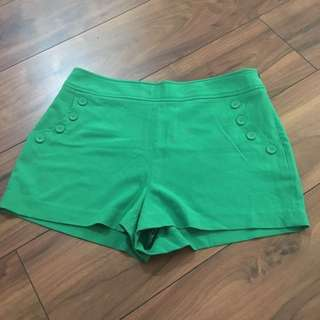 Forever 21 Green High-Waisted Shorts