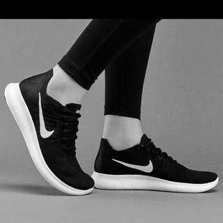 Sepatu Nike Free Rn Flyknit Black White Premium Import Size 40