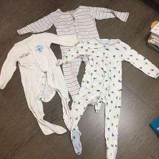 Mothercare Sleepsuits Baby Boy Sleepwear Romper Nightwear Night Sleep Wear Pajamas Pyjamas