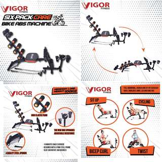 Vigos Six Pack Care with Bike Abs Machine