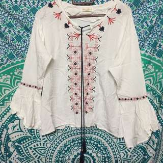 FREE POS EMBROIDERED TOP