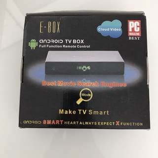 E box android tv box