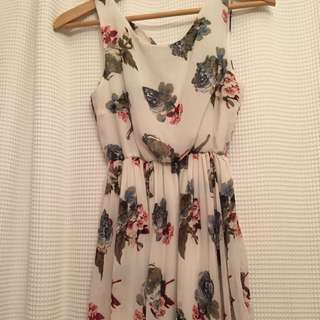 Floral bow tie back dress