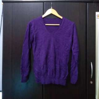 Purple/Violet knitted pullover