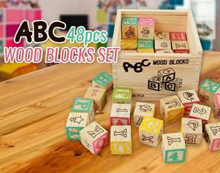 [ABC Wooden Blocks 48pcs]