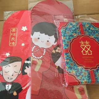 Wedding red packets ang bow