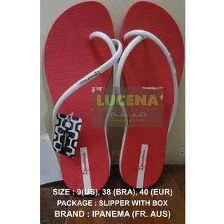 FLIPFLOPS : AUTHENTIC IPANEMA FIT FEM (PINK/WHITE)