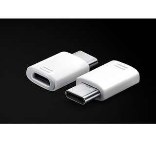 SAMSUNG原廠 Micro USB 連接器【GH98-40218A】micro USB轉Type C轉頭: Galaxy S8, S8 Plus, C9 Pro, C7 Pro, C5 Pro, A7 (2017), A5 (2017), Note 8