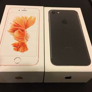 iPhone 6s and 7 boxes