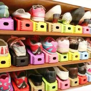 Shoes Slots Organizer Plastic Space-Saving Shoes Display Storage Rack
