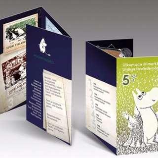 🇫🇮芬蘭姆明紀念郵票小冊子 The Moomins time travel international stamps