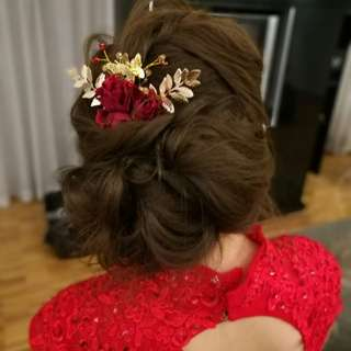 Bridal Accessories Set (Red)