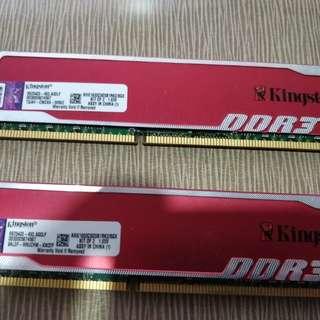 Kingston DDR3 8GB RAM X 2