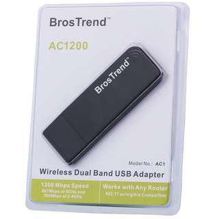 (BNIB) BROSTREND AC1200 Dual Band 5GHz 867Mbps USB Wireless WiFi Network Adapter - AC1 (Brand New Boxed)