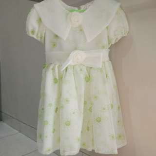 Dress chifon flower, sifon bunga