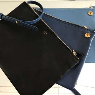 Auth Celine Large Trio in tricolour bag