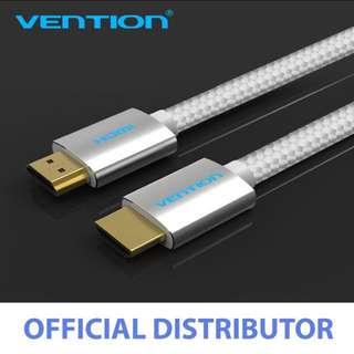 Vention 1M HDMI Cable PVC Cotton Tread Braided HDMI cable