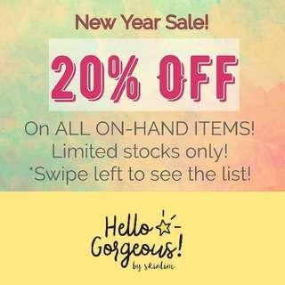 Hello Gorgeous Products On-Sale!! Legit Reseller here!