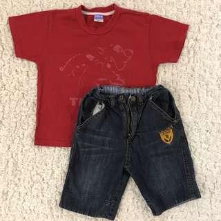 Shirt & Denim Pants