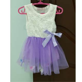Purple & white flower dress