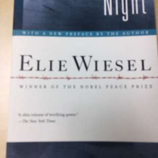 Night. Elie Wiesel. Reflections about German concentration camp experiences. WW2 Germany