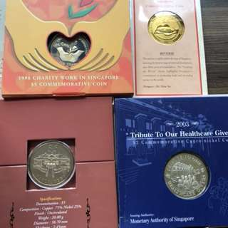 Singapore Cu-Ni Coin Set x 4