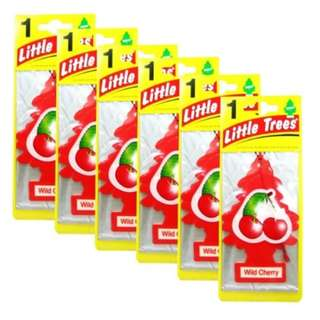 Little Trees Car Freshener Wild Cherry (Bundle of 6)
