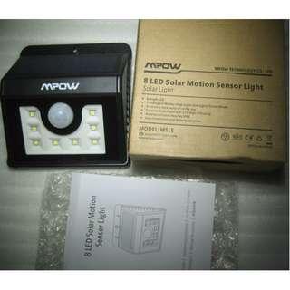 MPOW 8-LED Solar Motion Sensor patio light , wall light, fence light