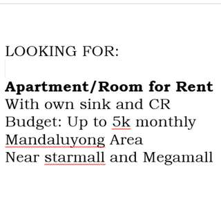 I am Looking for Apartment/Room for Rent